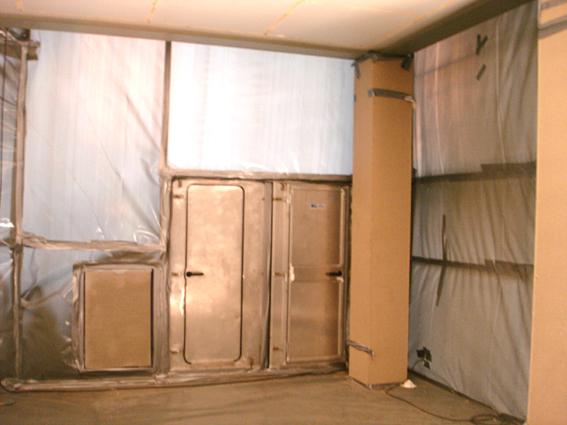 Gebäudesanierung Asbest und KMF (-Isolierung) – Sanierung von belasteten Teilbereichen im laufenden Betrieb und/oder vor Abbruch mit folgenden Detailleistungen.